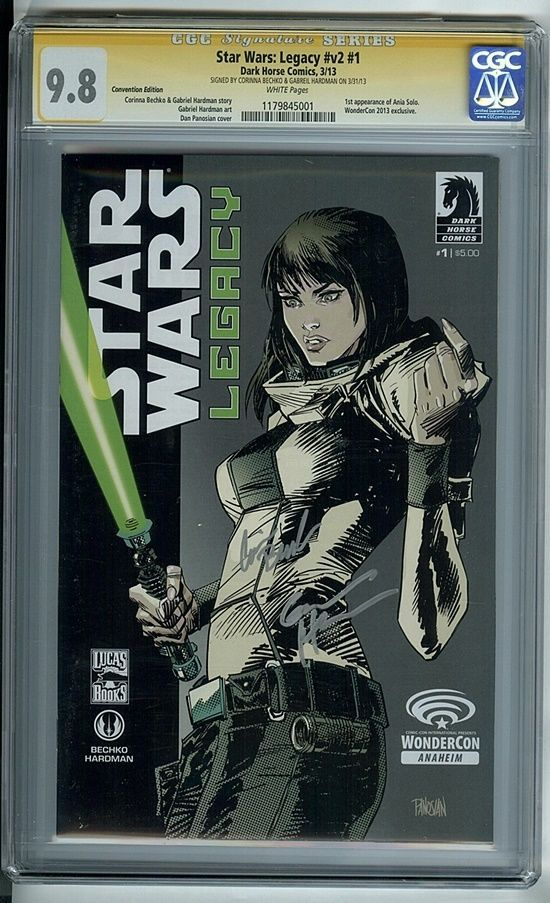 Star Wars: Legacy Vol 2 #1 (Dark Horse Comics 2013) CGC Graded 9.8 Signed NM/MT