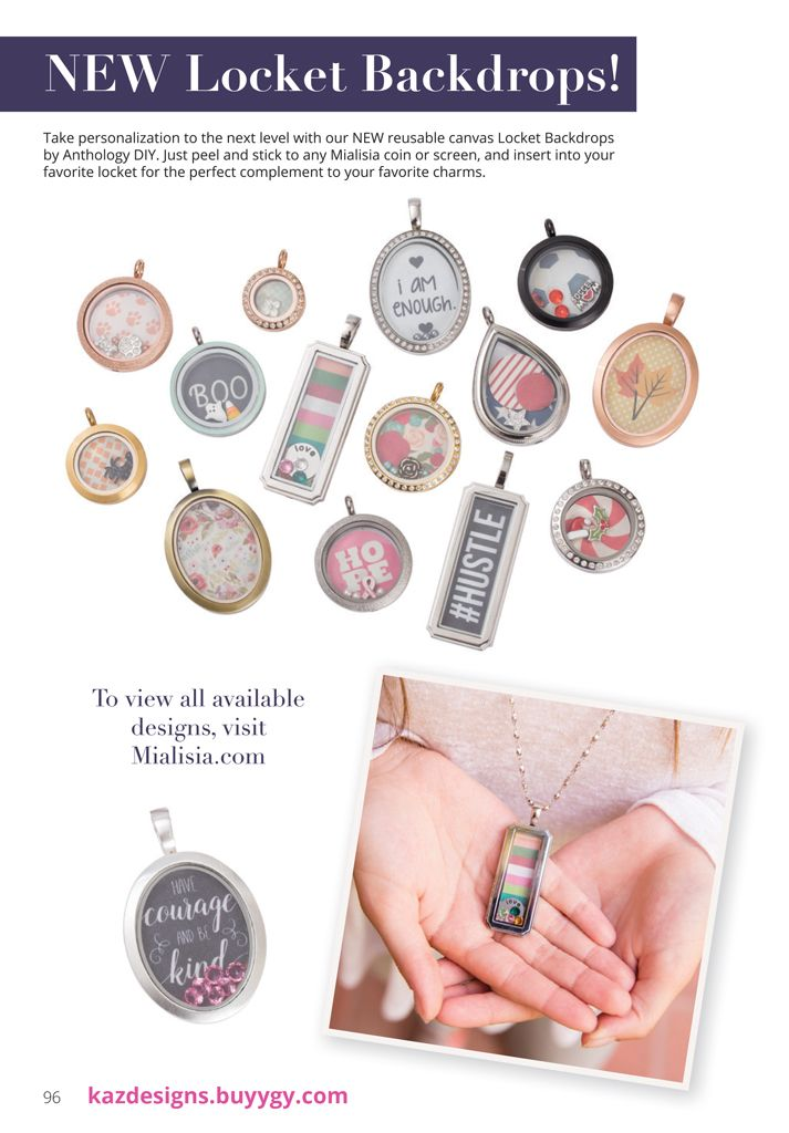 Oh, Em, Gee, I can't contain my excitement. Look at these new Mialisia Locket Inserts from Anthology. This is a sneak peek at the Fall Collection available in September! There are loads more new pieces coming.