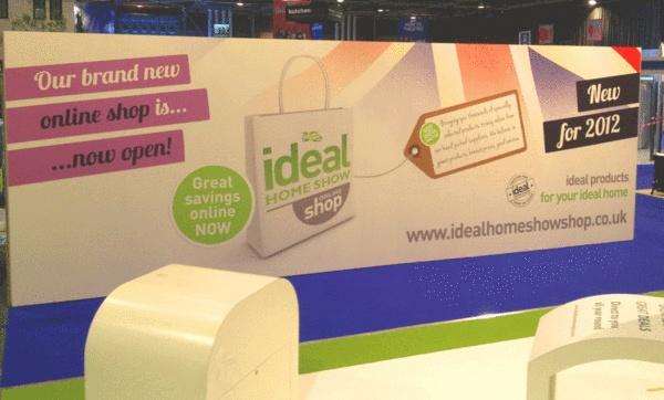 Ideal Homes Show Scotland 2012 shop billboard.