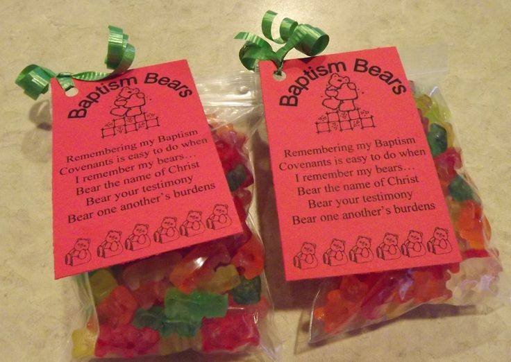 This was the handout I gave the kids after the Baptism talk--the three bears of baptism. If the kids could remember the three bears of baptism then I would give them a bag full of gummy bears.