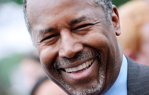 Ben Carson: Donald Trump's Surge Is Good for Me. Republican presidential candidate Dr. Ben Carson attends a anti-abortion rally opposing federal funding for Planned Parenthood in front of the U.S. Capitol July 28, 2015 in Washington, DC. Planned Parenthood faces mounting criticism amid the release of videos by a pro-life group and demands to vote in the Senate to stop funding. (Photo by Olivier Douliery/Getty Images)