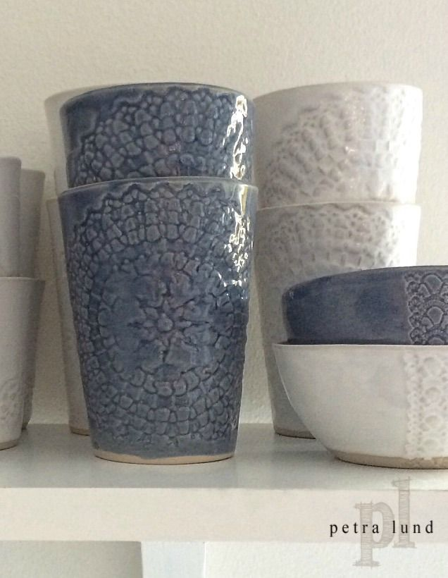 ETHNIC keramik mugg jeansblå via Petra Lunds Lera. Click on the image to see more!