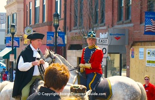 Check our complete Patriots Day schedule for over 60 reenactments, parades, and events during Boston's special American Revolution tribute.