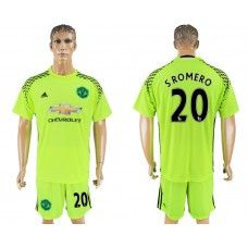2017-18 Kit Calcio Manchester United 20 S.Romero Goalkeeper Maglie Calcio