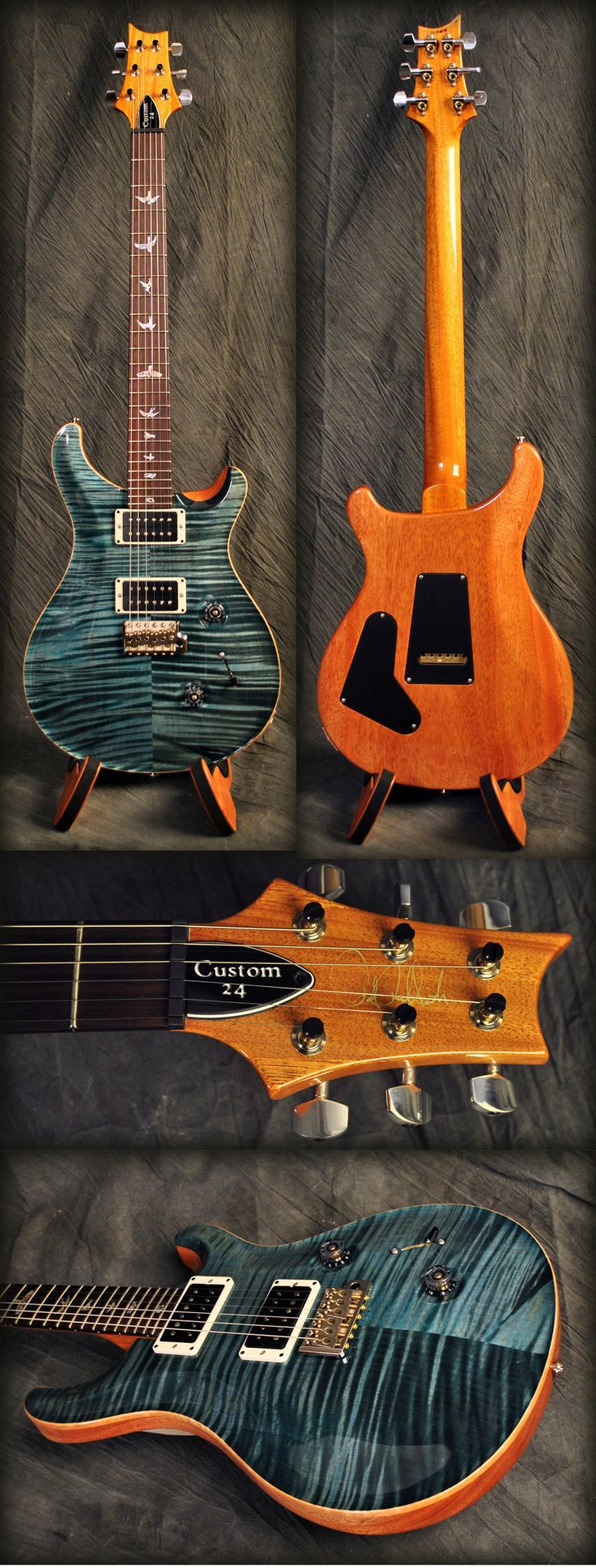 PRS Custom 24 Guitar with hand signed headstock! Get 10% off this guitar or anything else you need with Coupon Code PIN10 at MusicPower.com.