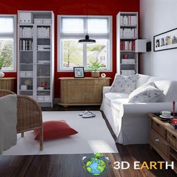 3D Living room scene