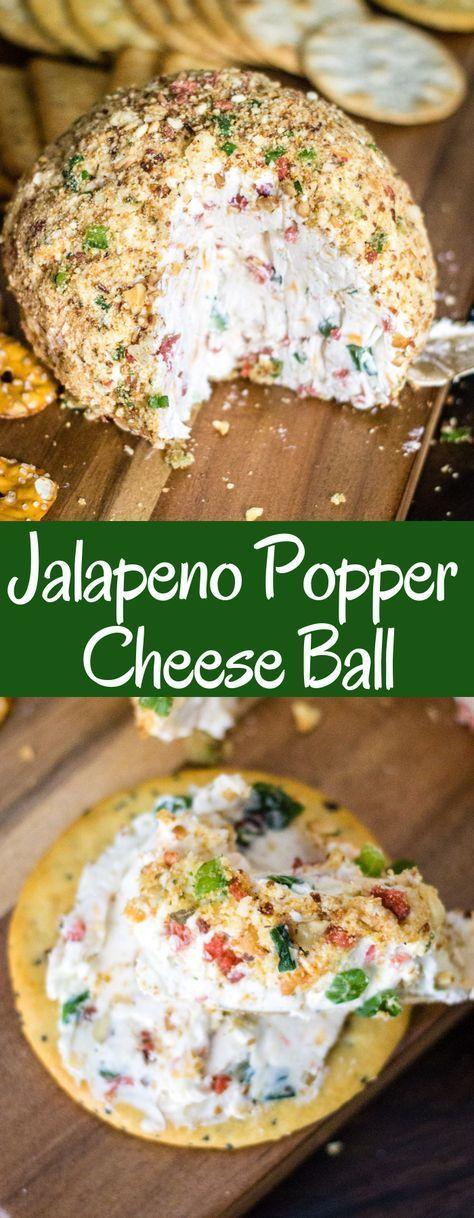 Ein Jalapeno Popper Cheese Ball ist der perfekte Party-Aperitif! Es ist cremig m…