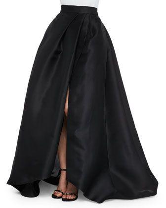 Side-Slit Gazar Ball Skirt by Monique Lhuillier at Neiman Marcus.