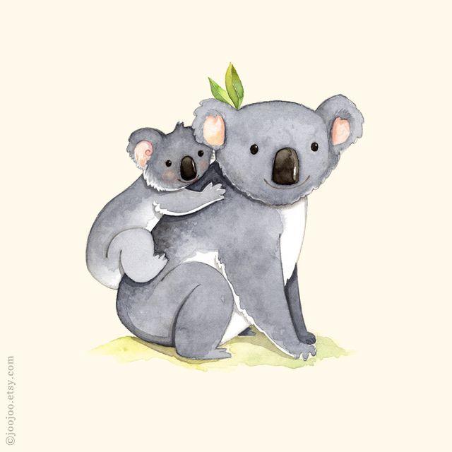 Koala watercolor painting by {JooJoo}, via Flickr