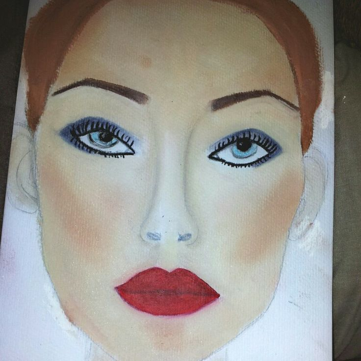 My face chart red carpet glam! #trainee #mua