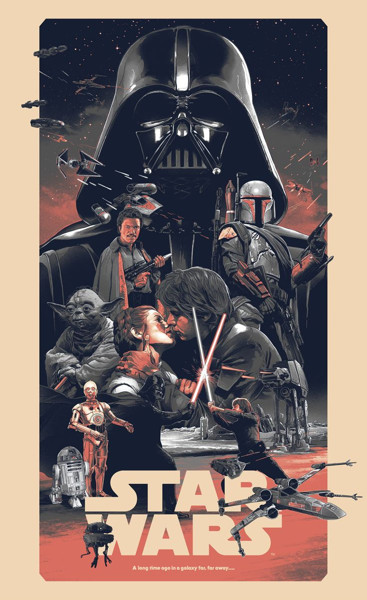 Star Wars Triptych Poster - Created by Grzegorz DomaradzkiLimited edition prints available for sale at Bottleneck Gallery on November 5th, 12 pm ET.