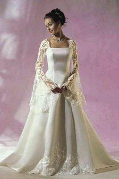 Celtic Style Wedding Dresses Modern celtic wedding dress