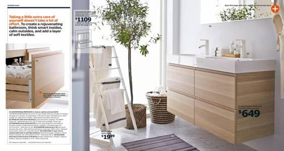 Ikea catalog 2015 towel ladder bathroom ideas for Bathroom design catalogue
