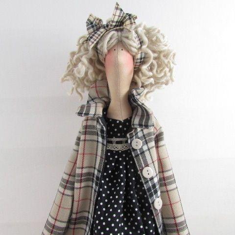 Tilda Doll - Burberry Coat - Folksy