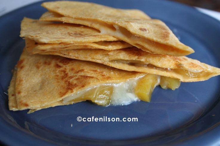 Mango and Brie Quesadillas