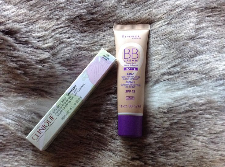 Clinique Chubby Stick Intense for Lips in Plushest Punch, $35 at Myer. Rimmel 9 in 1 Perfecting BB cream Matte in Light, $6.47 at Priceline.