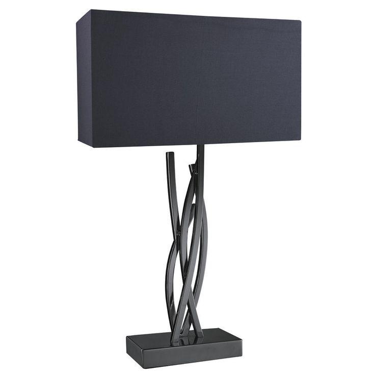 Chrome Entangled Vines Table Lamp With Black Shade From Dushka LTD London UK