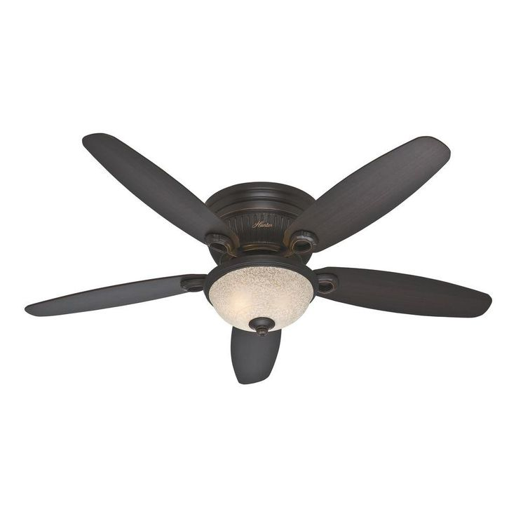 Beautiful Hunter Ashmont 52 In. Indoor Onyx Bengal Bronze Ceiling Fan With Light Kit