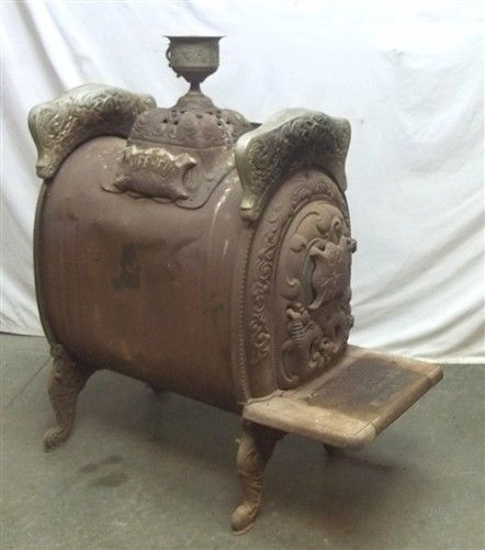 1904 Channon Emery Cast Iron Parlor Stove Quincy Illinois