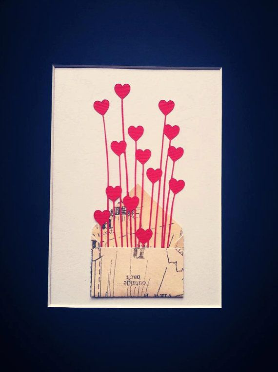 Ready To Frame. Sent With Love.  Small Envelope by RubyCanoeDesign, $12.00