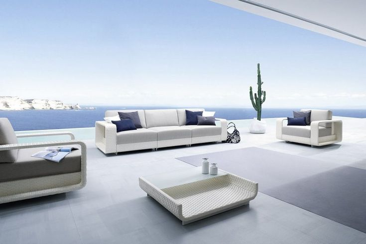 Outdoor: Blue White And Gray Outdoor Furniture For The Coastal Style Patio