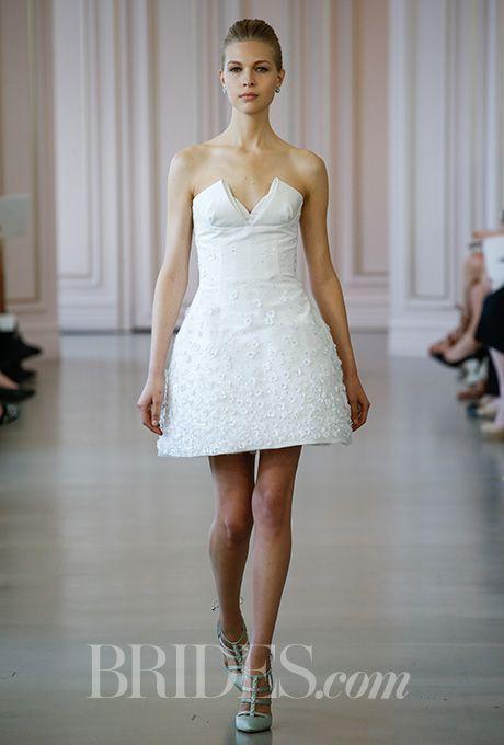 Wedding Dresses Inspiration    Picture    Description  A short, structured OscarPRGirl wedding dress | Brides.com    - #Dress https://glamfashion.net/wedding/dress-wedding/beautiful-wedding-dresses-inspiration-2017-2018-a-short-structured-oscarprgirl-wedding-dress-brides-com/