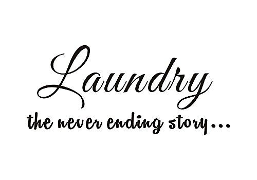 Laundry Room the never ending story Home Mural DIY Quote ... https://www.amazon.com/dp/B0180P503I/ref=cm_sw_r_pi_dp_x_qO0Tyb1WVPM7Z