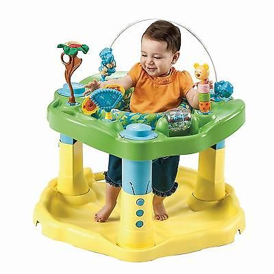 Baby Bouncer Activity Center Toddler Infant Seat Exersaucer Pad Kids Zoo Friends