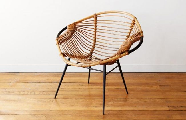 Fauteuil en rotin charlotte perriand design pinterest - Fauteuil rotin vintage ...
