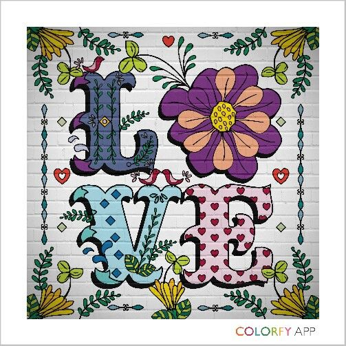 By @2hartsrbetterth ! Fun app! #colorfy #colorfy #getinspired #colorfyapp #colorfy #colorfyapp #getinspired #message #love #you #lover #thank #you #happy #birthday #card #colors #beauty