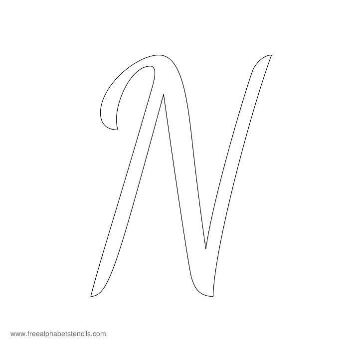 Worksheets Cursive N the 25 best ideas about cursive n on pinterest capital alphabet stencil n