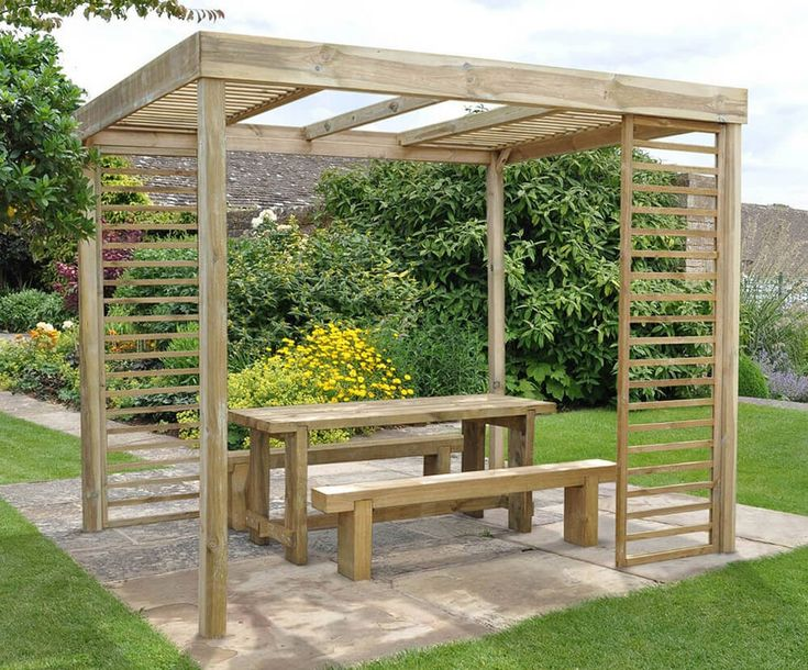 Wonderful Pergola Furniture Ideas To Go For