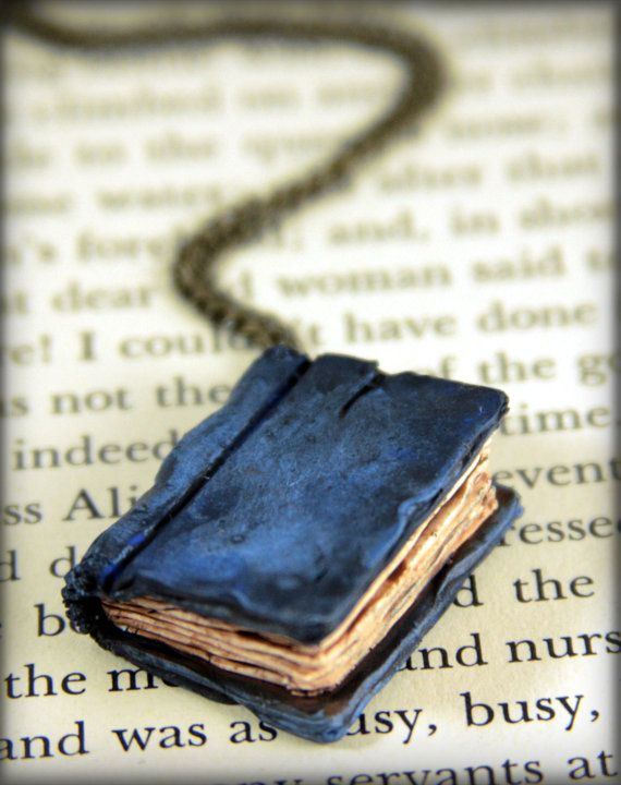 Blue Book Necklace. Adorable, plus there are a lot of other really cool things on this girl's easy shop.