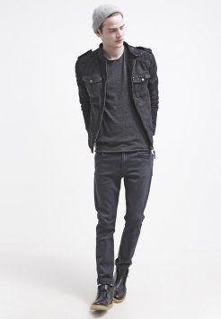 Pepe Jeans - JONES - Giacca di pelle - black
