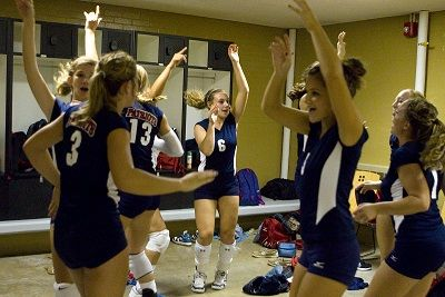 Volleyball chants for teams, players on the court, players on the bench, and cheerleaders. Cheers, chants, and slogans to pump up fans, teammates