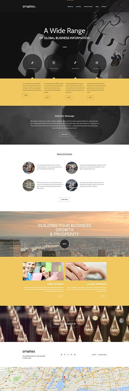 Business website inspirations at your coffee break? Browse for more WordPress #templates! // Regular price: $75 // Sources available: .PSD, .PHP, This theme is widgetized #Business #WordPress