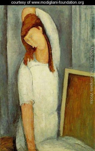 Portrait of Jeanne Hebuterne, Left Arm Behind Her Head - Amedeo Modigliani - www.modigliani-foundation.org