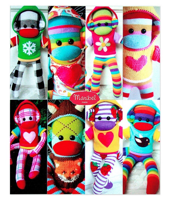 Sock Monkeys in Hoodies