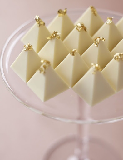 ~gold accented chocolate pyramids and other festive ideas~