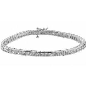 5.00 ct. TW Princess Diamond Tennis Bracelet in 14k Channel Setting