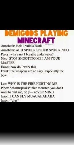 THE DEMIGODS PLAYING MINECRAFT