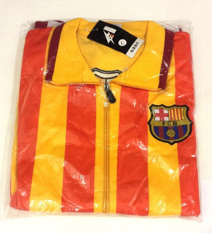 FC BARCELONA LONG SLEEVE JACKET FOOTBALL With logo BARCA  Small FCB #RJCSPORTSDIST #FCBarcelona