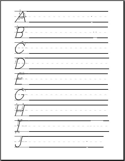 Penmanship Worksheets With Rules Printables And