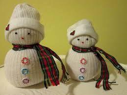 Výsledek obrázku pro sněhulák z ponožky