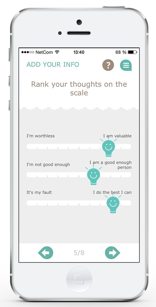 What we think about ourselves affect how we perceive a situation. We´re not always aware of our thought patterns. Mindfit gives you techniques that help you!
