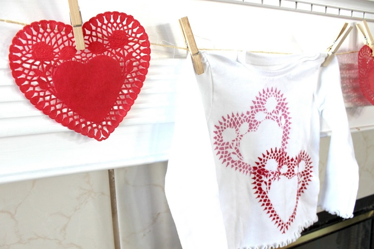My Own Road: Heart doily shirt