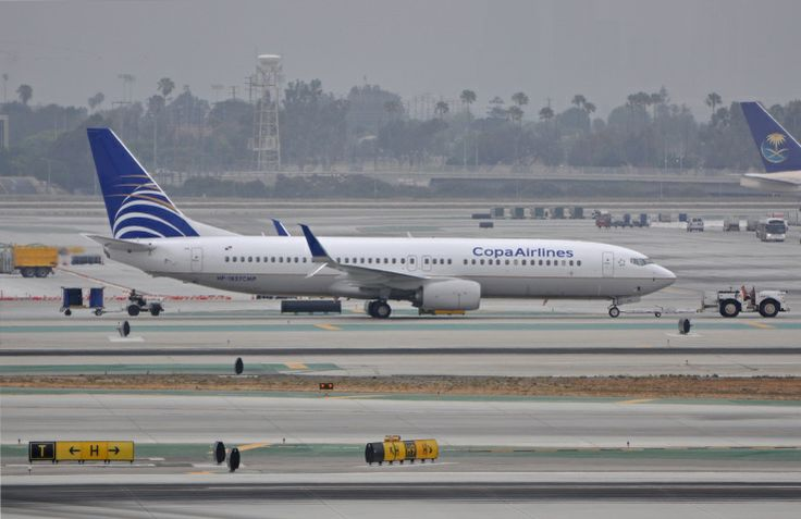Everybody has Scimitar split winglets now! Here is a Copa 737-800 showing them off on a gloomy June morning in LA.