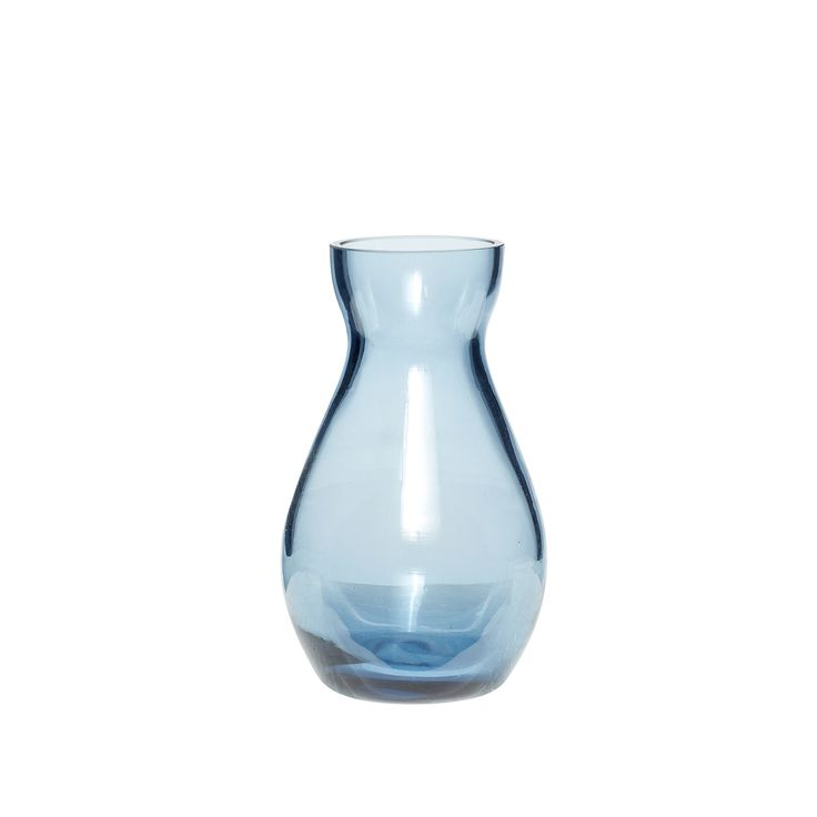 Small blue glass vase. Product number: 660209 - Designed by Hübsch