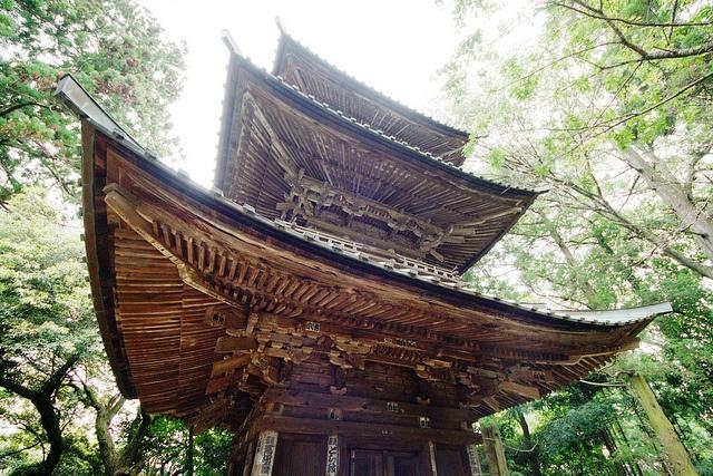 Three-story pagoda of Saimyoji Temple Tochigi Japan