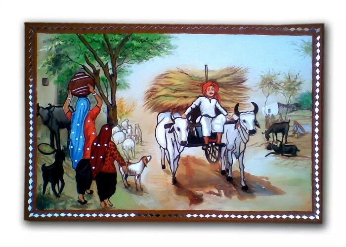 1000 images about mural indian village life examples on for Examples of mural painting